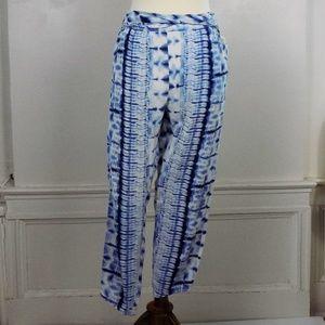 free people blue dip dye tie dye beach pant